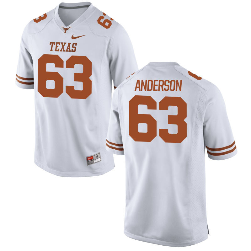 Youth Nike  #63 Replica White Texas Longhorns Alumni Football Jersey (Alex Anderson)